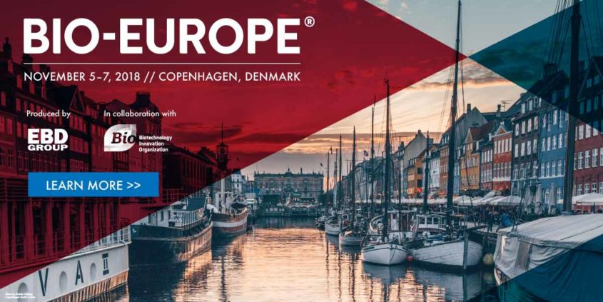 Meet our CEO and Head of Marketing @ Bio-Europe 2018 in Copenhagen
